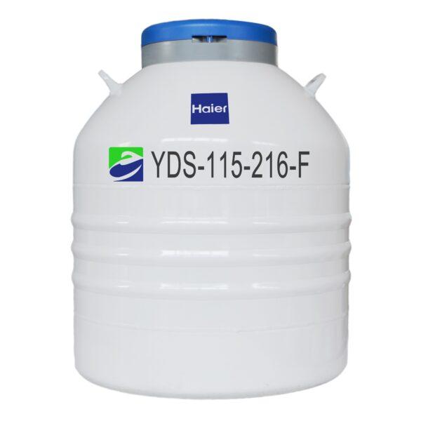 Smart Series Liquid Nitrogen Storage Dewar, for Storage, 115L, 216mm neck opening, with racking, Haier