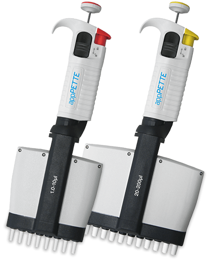 , NEW appPETTE Multi Channel Variable Pipettors available from Appleton Woods