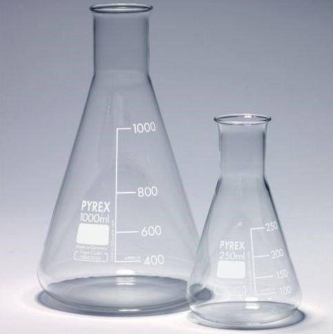 300ml Erlenmeyer flask, narrow neck, Pyrex