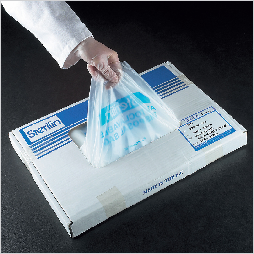 Autoclave bag, HDPE, 810x610mm, Sterilin